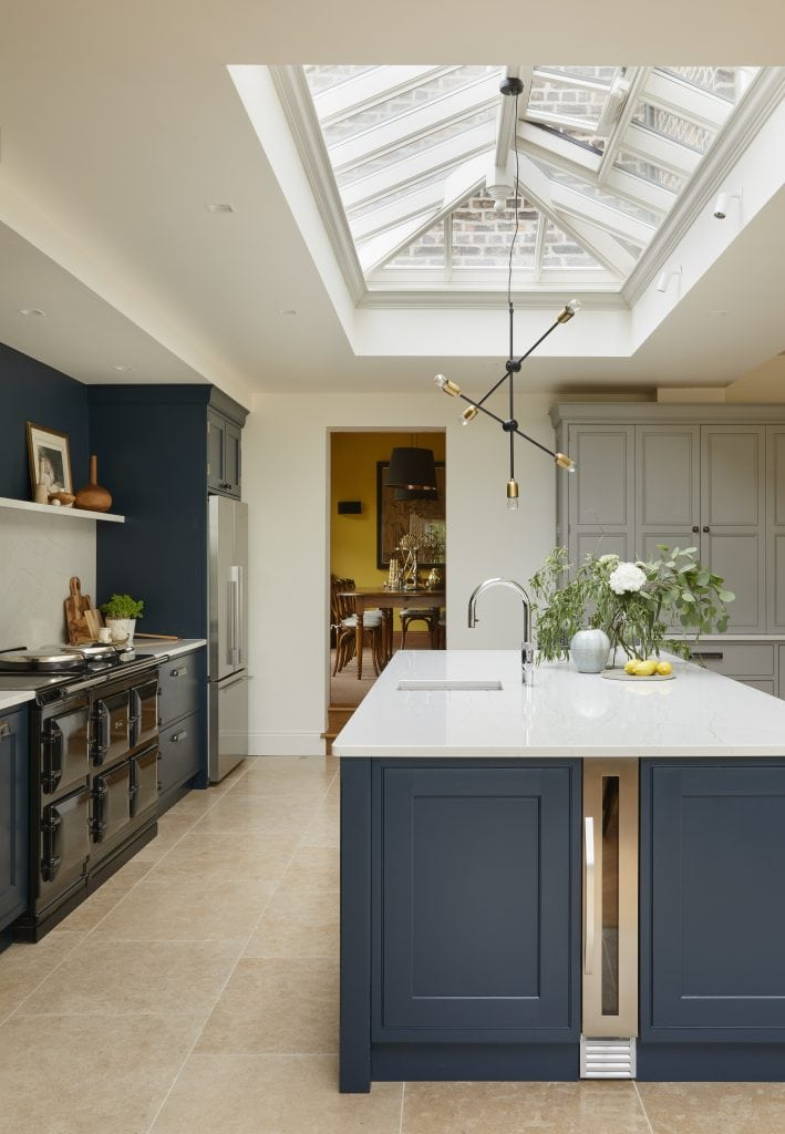 A roof lantern in a kitchen
